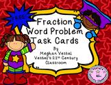 Fraction Word Problem Task Cards: Superhero Theme