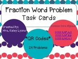Fraction Word Problem Task Cards ****With QR Codes*****