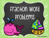 FREEBIE! Fraction Word Problems