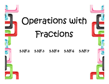 5th Grade Fraction Word Problems