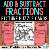 Adding and Subtracting Fractions Word Problems (5th Grade Fractions 5.NF.2)