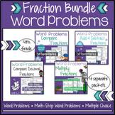 Fraction Word Problem Worksheets 4th Grade Bundle