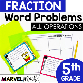 Fraction Word Problems: Add, Subtract, Multiply, Divide