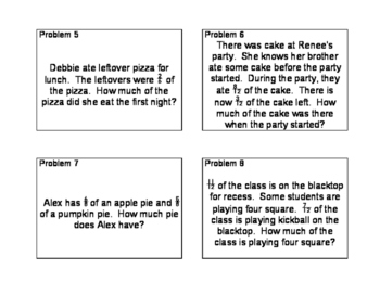 Fraction Word Problems--Addition and Subtraction