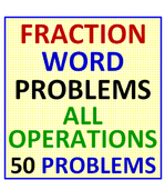 Fraction Word Problems All Operations