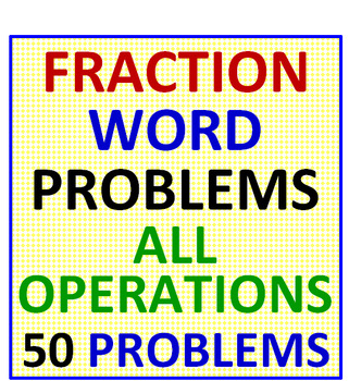 Fraction Word Problems All Operations PLUS Fractions & Decimals Match