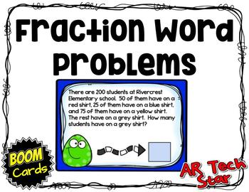 Fraction Word Problems Boom Cards