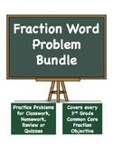 Fraction Word Problems Bundle