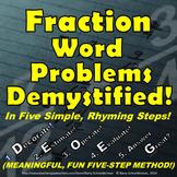 Fraction Word Problems - Original Five-Step Method, Notes, Warm-Up Problems