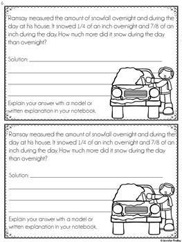 Fraction Word Problems (Interactive Notebook)