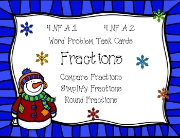 Fraction Word Problems {Math Task Cards}