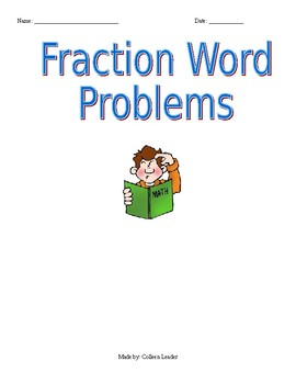 Fraction Word Problems Multiple Ways