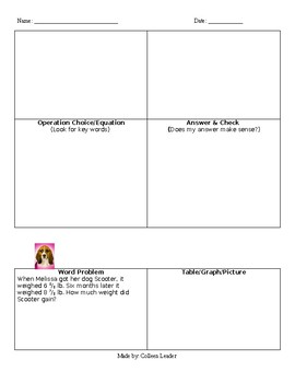 Fraction Word Problems Multiple Ways Practice