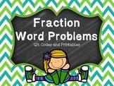 Fraction Word Problems QR Code Scavenger Hunt & Printables