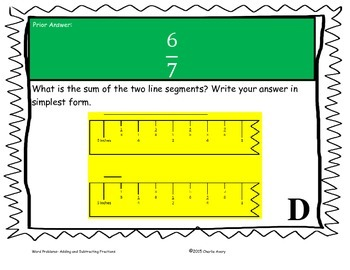 Fraction Word Problems Scavenger Hunt - Addition and Subtraction