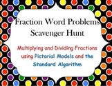 Fraction Word Problems Scavenger Hunt - Multiplication & Division