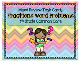 Fraction Word Problems Task Cards (Mixed Review)