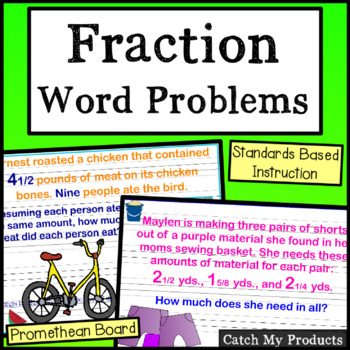 Fraction Word Problems for PROMETHEAN Board