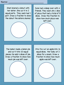 Fraction Word Problems with Pie Charts