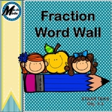 Fraction Word Wall