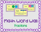 Illustrated Fraction Word Wall Cards