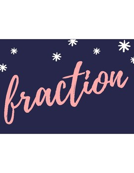 Fraction Word Wall- Complete Set