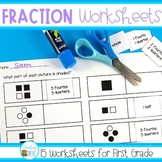 Fraction Worksheets for First Grade