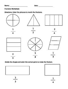 Fraction Worksheet
