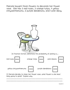 Fraction Worksheet Activity-6 Real World Number Stories