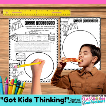 Fractions pizza worksheet