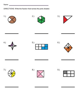 Math Grid Worksheets Naming Fractions Worksheet Easy Geometry ...