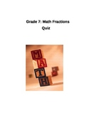 Fraction Worksheet Quiz