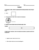 Fraction Worksheet/Test- Modified 3rd Grade EngageNY Commo