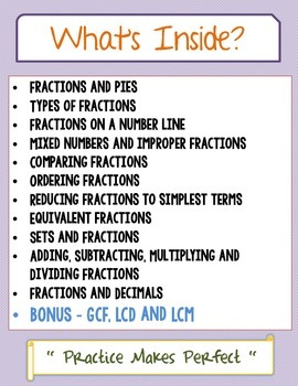 Fraction Worksheets w/ Equivalent Fractions, Operations, Conversion & More