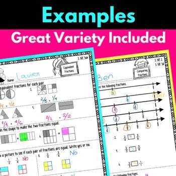Third Grade Fraction Worksheets
