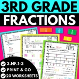 3rd Grade Fraction Worksheets