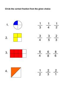 20 Easy Fraction Worksheets