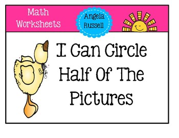 Fraction Worksheets For Beginners ~ Half