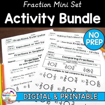 Fraction Mini Worksheet Bundle