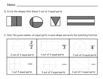 Fraction Worksheets {Practicing halves & fourths}