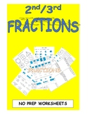 Fraction Worksheets for 2nd and 3rd