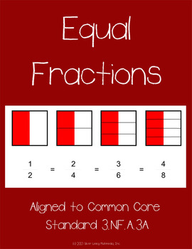 Fraction Worksheets with Visuals - Aligned to Common Core 3.NF.A.3a