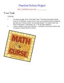 """Fraction Writing Project Based off """"The Math Curse"""""""