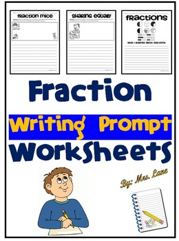 Fraction Writing Prompt Worksheets