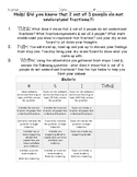Fraction Writing Prompt with Rubric