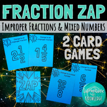 Fraction Zap - Improper Fraction and Mixed Number Game