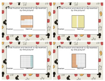 Fraction an Decimal Review Task Cards