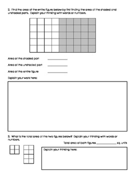 Fraction and Area Math Quiz