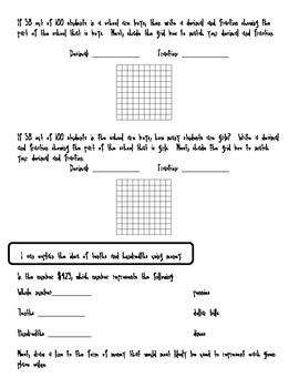 Fraction and Decimal Assessment