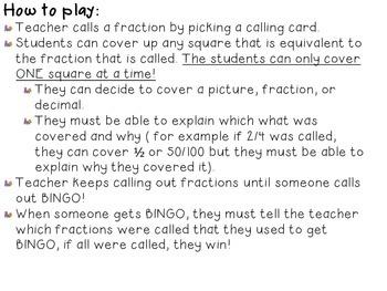 Fraction and Decimal Bingo Class Set